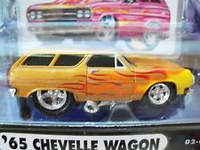 MUSCLE MACHINES - '65 CHEVROLET CHEVELLE STATION WAGON - FLAMES - 1/64 DIECAST