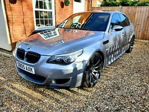 BMW E60 M5 outstanding condition rare silber-grau metallic fsh low millage