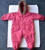 PETIT BATEAU baby Srampler warm creme rot  6m 12m 18m 56 62 68 74 80