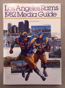 1982 Los Angeles RAMS Football Media Guide. Excellent shape!
