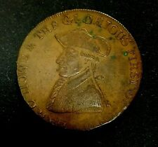 RARE OLD, 1794 BRITAIN, EARL HOWE, HAMPSHIRE CONDER HALFPENNY COIN, DH-17! NICE!