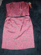 Tutu French New 100%Silk Pink Starfish&Pearls 2 Piece Set Top 14 Skirt 12