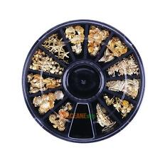 One Wheel 3D Metal Nail Art Glitter Paillette Sea Shell DIY Tips Manicure Decor