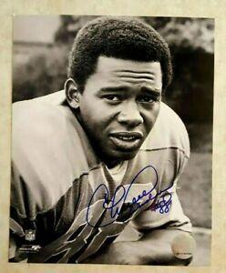 CHARLIE SANDERS Signed Photo 8 x 10 Detroit Lions Hall of Fame Deceased