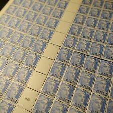 FEUILLE SHEET ALGÉRIE N°241 x100 EN 2 PARTIES MARIANNE DE GANDON NEUF ** MNH