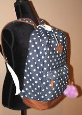 Candie's® CROSS SHOP BLUE Polka Dot WHITE Canvas Adult / Youth Backpack NWT $60