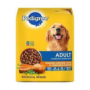 Pedigree Adult Dry Dog Food - Roasted Chicken, Rice & Vegetable Flavor 30 lb