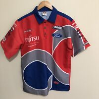 Ford Fujitsu Official V8 Supercars Racing Polo Shirt Red Blue Grey Mens Small
