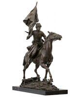 Bronzeskulptur Kosake Russland im Antik-Stil Bronze Figur Statue 63cm