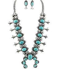ARIS Southwestern Navajo Tribal Squash Blossom Necklace Bundle: Necklace, & Bag