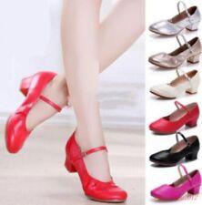 Ballroom Womens Latin Waltz Adult Salsa Soft Heel Tango Dancing Leather Shoes
