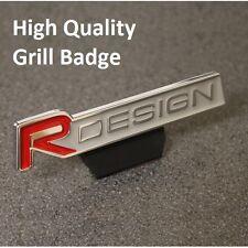 Front R DESIGN Grill Badge Emblem Decal Logo Sticker Red Car Grille 111rg