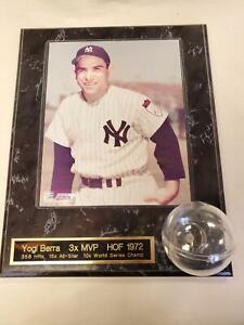 Yogi Berra HOF 1972 Picture Portrait Plaque ~ w/ Baseball Holder (D1)