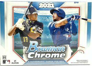 MIAMI MARLINS 2021 Bowman Chrome Baseball 12-Box HTA Choice Case #1 Break