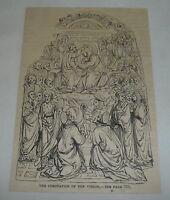 1879 magazine engraving ~ CORONATION OF THE VIRGIN
