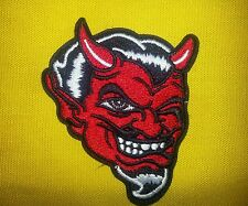 Red Devil Iron-on or sew-on Patch. FREE SHIPPING