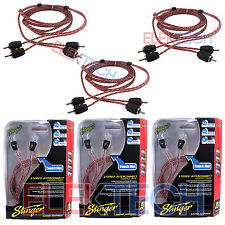 Three (3) Stinger SI426 RCA Interconnect Audio Cable 6ft for 6-Channel Install