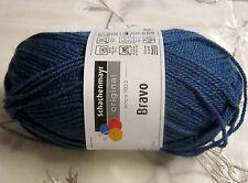"""Wolle-schachenmayr Original """"bravo"""" 50g filato - in 60 Parte dei colori 2 Fb.08340-cobalto"""