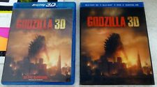 GODZILLA (2014) 3D / BLU-RAY / DVD + LENTICULAR SLIPCOVER NO DIGITAL LIKE NEW!