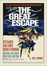 GREAT ESCAPE -- Steve McQueen FILM POSTER stampa -- A3