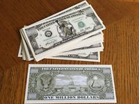 10 Rubber Ducky Quack Quack One Million Dollar Bills # 319