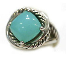 DAVID YURMAN NEW Infinity Aqua Chalcedony Silver Ring 11mm 6