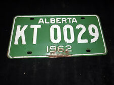 1962 ALBERTA License Plate KT 0029