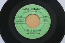 THE GAMBLERS Teen Machine/Tonky 45 RARE Surf Garage Instro - Kim Fowley - HEAR