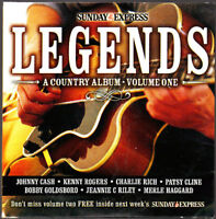 Promo CD,  Country Legends Vol1, Cash, Rogers, Rich, Patsy Cline