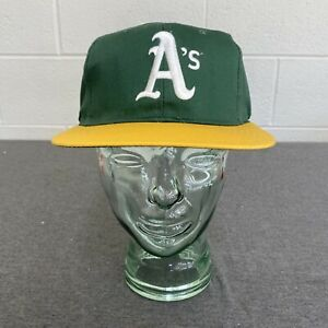Oakland A's Competitor Hat Snapback Cap 90s MLB Adult Green/Yellow