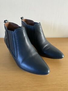 M&S 'Indigo Collection' Women's UK 6 Blue Leather Ankle Boots