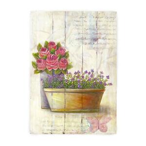 Quadro Canvas Shabby Chic Garden Collection Terza Variante 35 x 51