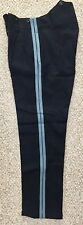 "Vintage British Army No1 Dress Trouser Double Sky Blue Stripes, 33"" waist"