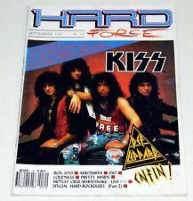 KISS Band Hard Force Heavy Metal Music Magazine Sept 1987 France Loudness Jovi