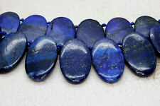 Lapis Lazuli Natural Flat Oval Smooth Gemstone Beads Loose Bead 22mm x 36mm