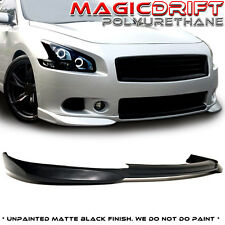 Made for 2009-2014 7Gen Nissan Maxima ST Style Front Bumper Lip Urethane BLK PU