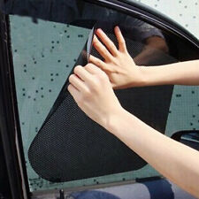 2Pcs Car Window Side Sun Shade Block Static Cling Visor Shield Screen Black
