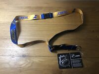 St. Louis Blues Lanyard Gold Keychain Key Strap With Tag New Stanley Cup Winners