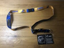 St. Louis Blues Lanyard Gold Keychain Key Strap With Tag New