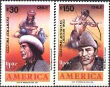 Mint stamps America UPAEP Atacameña and austral culture 1989 from Chile avdpz