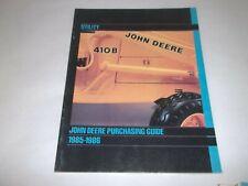 John Deere 410b Utility Purchasing Guide 350c6305 Bulldozer 401d Tractor 310