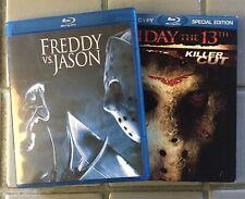 Blu Ray Lot (2) Freddy Vs. Jason + Friday The 13th (2009) Robert Englund