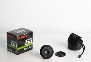 Pentax DA SMC 40mm f/2.8 Limited Pancake lens in Excellent condition