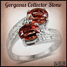 TGW 3.08 Cts. Exotic Red Labradorite Red Andesine (Congo Sunstone) White Topaz