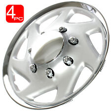 "4PC 16"" Hub Caps Fits FORD TRUCK / ECONOLINE VAN Chrome/Silver Wheel Covers Cap"