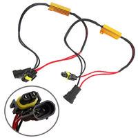 2x H8/H11 LED DRL Fog Light Canbus 50W Load Resistor Error Free Decoder Can I2