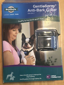 New Open Box PetSafe Gentle Spray Anti-Bark Collar NIB SNS-BK-C Extra Battery