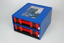 Fischer Plastics Ezi-Pak Module Frame with 2 Carry Cases with Red Lids 1H-155