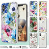 iPhone X XR XS Max Case 8 7 6s Plus SE Floral Clear Bumper Print Cover for Apple