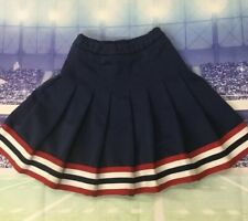 Real Cheerleading Uniform Skirt Youth Med Red,white And Blue